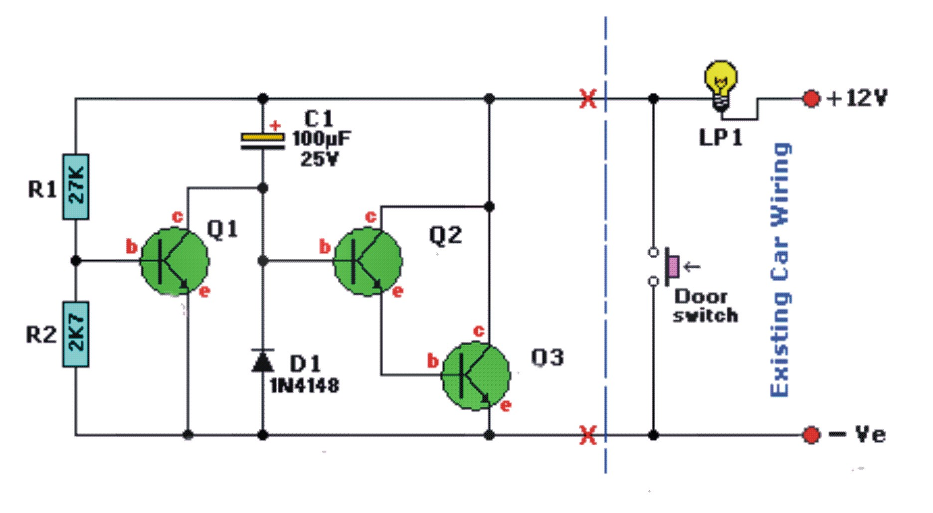 dome light dimmer circuit for 91
